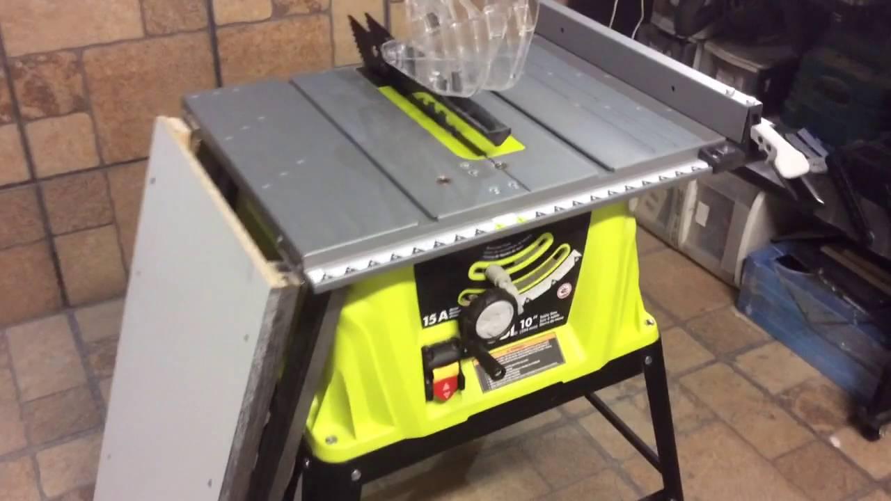 Modificando sierra de mesa ryobi para cortar hojas de for Sierras de mesa