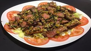 Grilled Ribeye Steak With Special Sauce  - Thit Bo Nuong Voi Sot Dac Biet