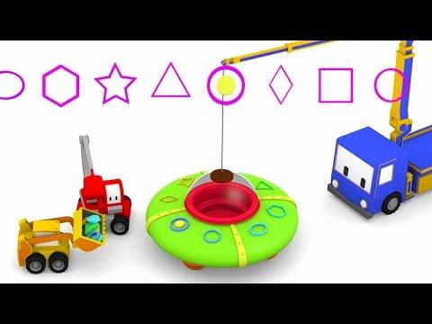UFO  Minik Kamyonlar ile renkleri öğren buldozer, vinç, kepçe