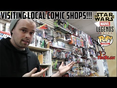 TOY HUNTING  SMALL BUSINESS SATURDAY!! LOCAL COMIC SHOP SALES BLACK FRIDAY