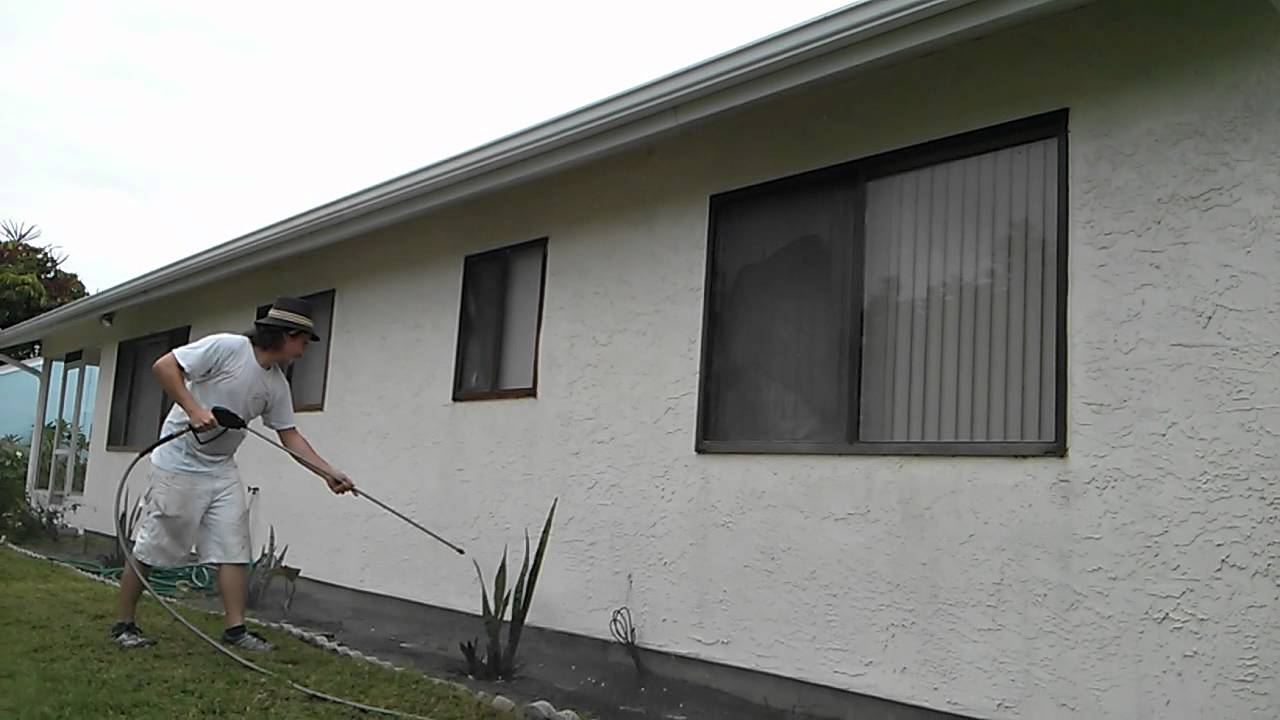 Pressure washing a house in florida prior to painting it - How to clean house exterior before painting ...