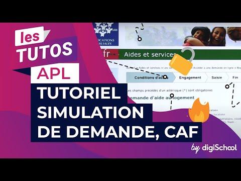 APL : tutoriel simulation de demande, CAF