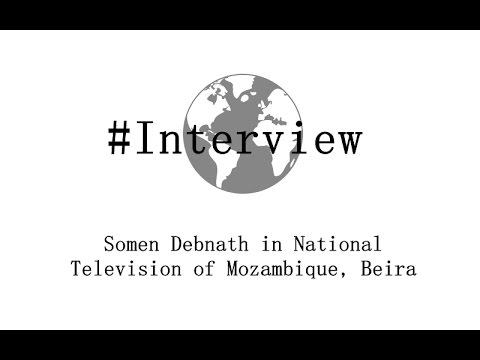 Somen Debnath in National Television of Mozambique, Beira