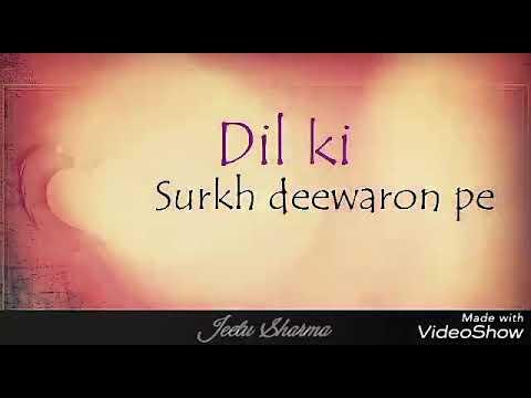 Naam Hai Tera    WhatsApp Love Status Video    Jeetu sharma    Lyrics song    Himesh  Resmiyha