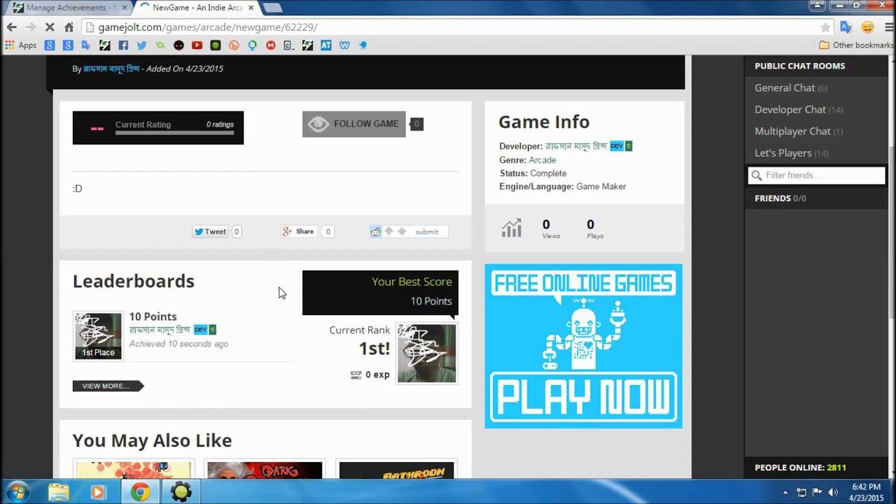 Game Maker Game Jolt Achievement Tutorial