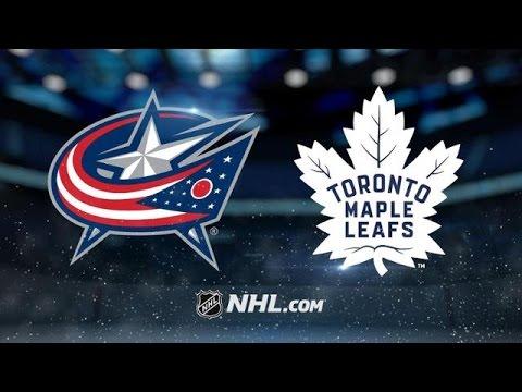 Columbus Blue Jackets vs Toronto Maple Leafs NHL Game Recap