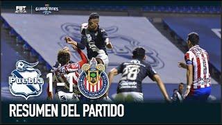 Puebla 1-1 Chivas | Resumen y goles | Jornada 1 | Guardianes 2021