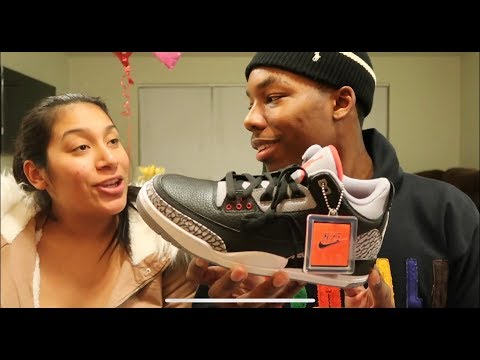 John gets air jordan 3 black cement! A day in the life of S And J
