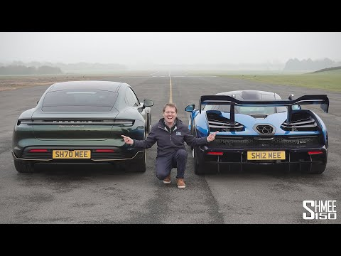Porsche Taycan Turbo S vs McLaren Senna | DRAG RACE