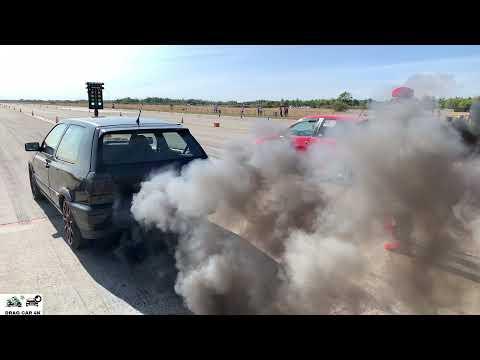 Seat Ibiza 1.9 TDI Vs VW Golf 3 1.9 TDI Drag Race 1/4 Mile 🚦🚗 - 4K