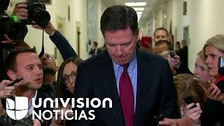 James Comey, exjefe del FBI, sale tras testificar ante congresistas republicanos