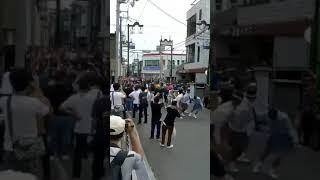 だんじり若松町事故、電柱折れて人に直撃