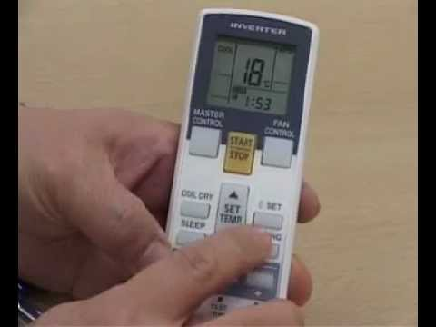 日本珍寶冷氣 - ASWA09-12-18L - 變頻冷氣機遙控器使用說明 - YouTube