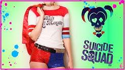 SUICIDE SUQAD Harley Quinn HALLOWEEN Kostüm | DIY T-Shirt und Outfit Verbessert