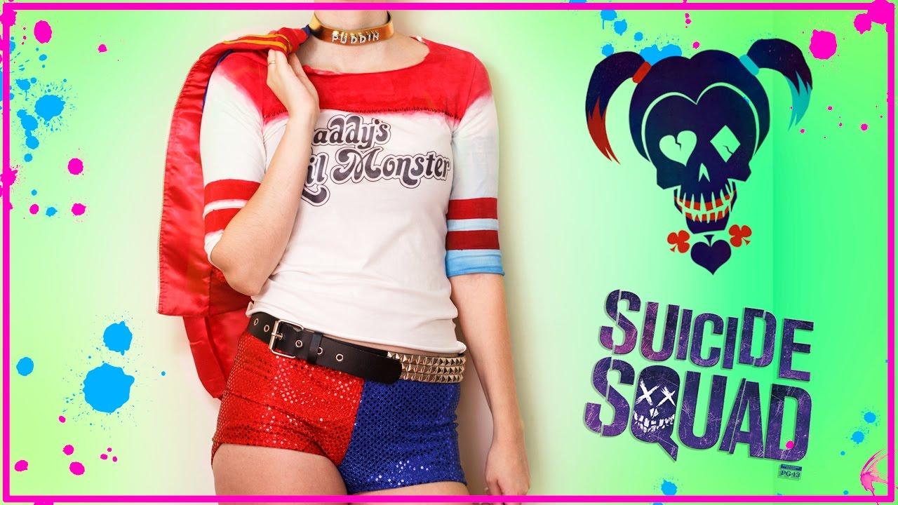 SUICIDE SUQAD Harley Quinn HALLOWEEN Kostüm | DIY T-Shirt und ...