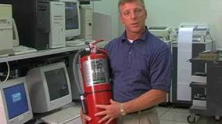 Clean Agent-Halon - How to use a fire extinguisher training