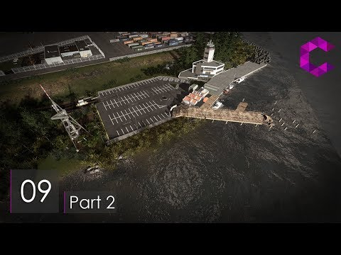 Cities Skylines: Pinewood — Ep 9 Pt 2 — Private dock & material handling port