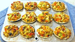 Stuffed Clams - Delicious Baked Clams With Bay Scallops - Poormansgourmet