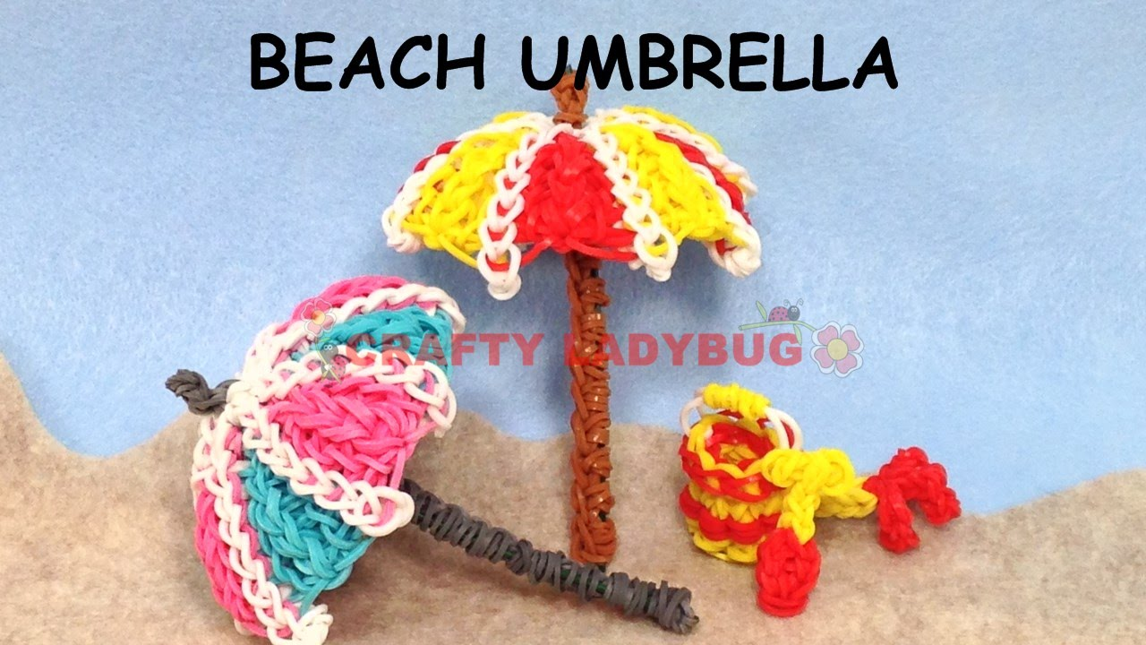 Rainbow Loom Band 3d Beach Umbrella Difficult Charm