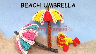 Rainbow Loom Band 3d Beach Umbrella Difficult Charm Tutorials By Crafty Ladybug /how To Diy