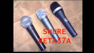 Dynamic Microphone Comparison Test SM58,BETA57A and AKG D5