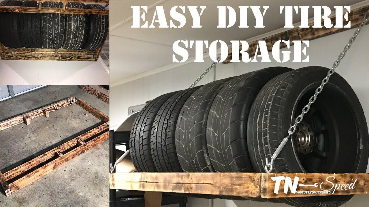 easy diy tire rack solution