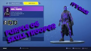 🔴ONLY TRU OGS GET THE PURPLE SKULL TROOPER!! (FORTNITE BATTLE ROYALE)