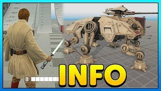 OBI-WAN Animation Gameplay, Geonosis, AT-TE Info + More - Battlefront 2