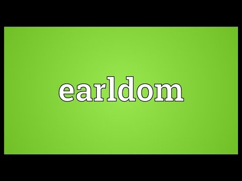 Earldom Meaning