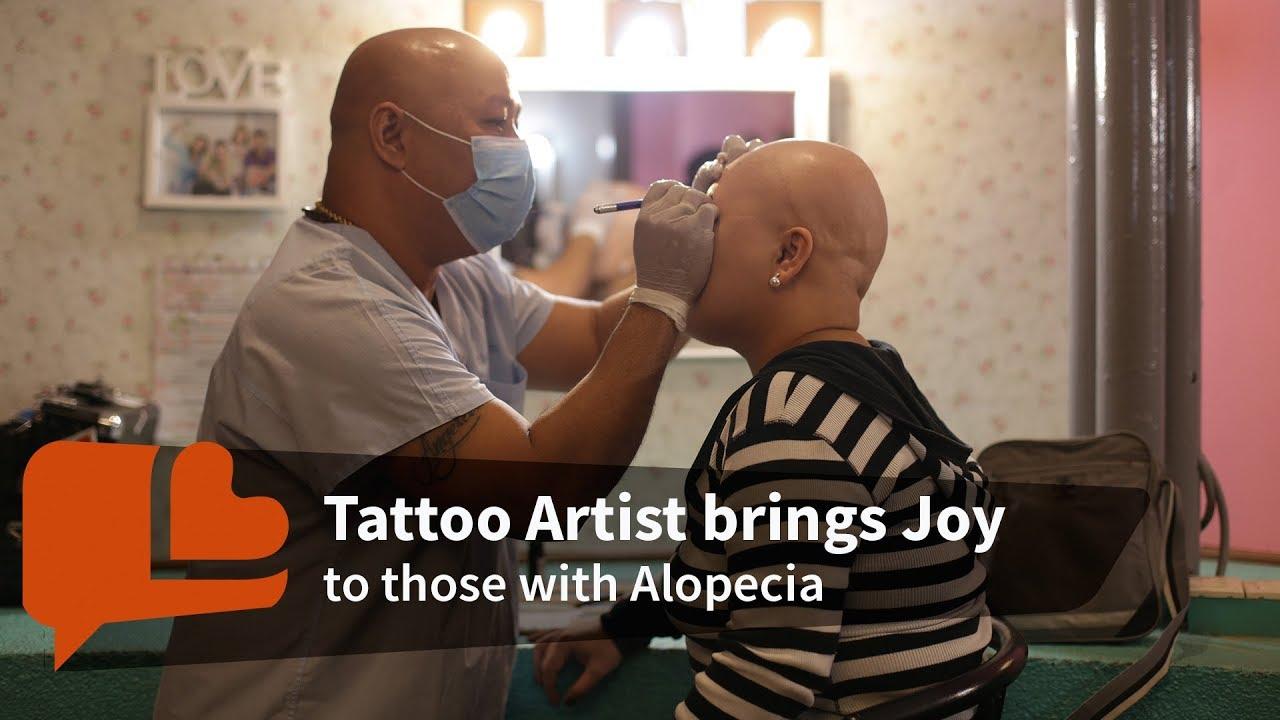 Tattoo Artist Brings Joy To Those With Alopecia Youtube
