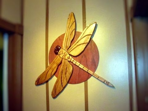 My Intarsia Dragonfly Project (15min) - YouTube