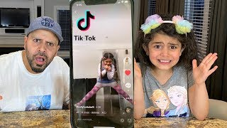 REACTING TO OUR 5 YEAR OLD DAUGHTER'S TIKTOKS!! *Shocked*