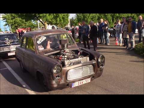 2 dragracer cars visiting Classic Summer Meet in Genk Belgium