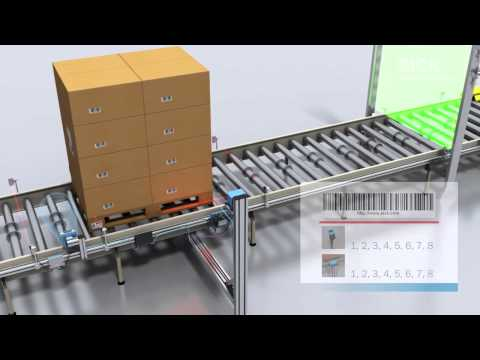 Pallet identification RFID and bar code scanner with 4Dpro from SICK