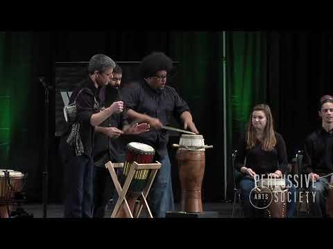 Sabar Drumming From Gandiol, Senegal KU West African Drum Ensemble PASIC 17 WPEC Winners