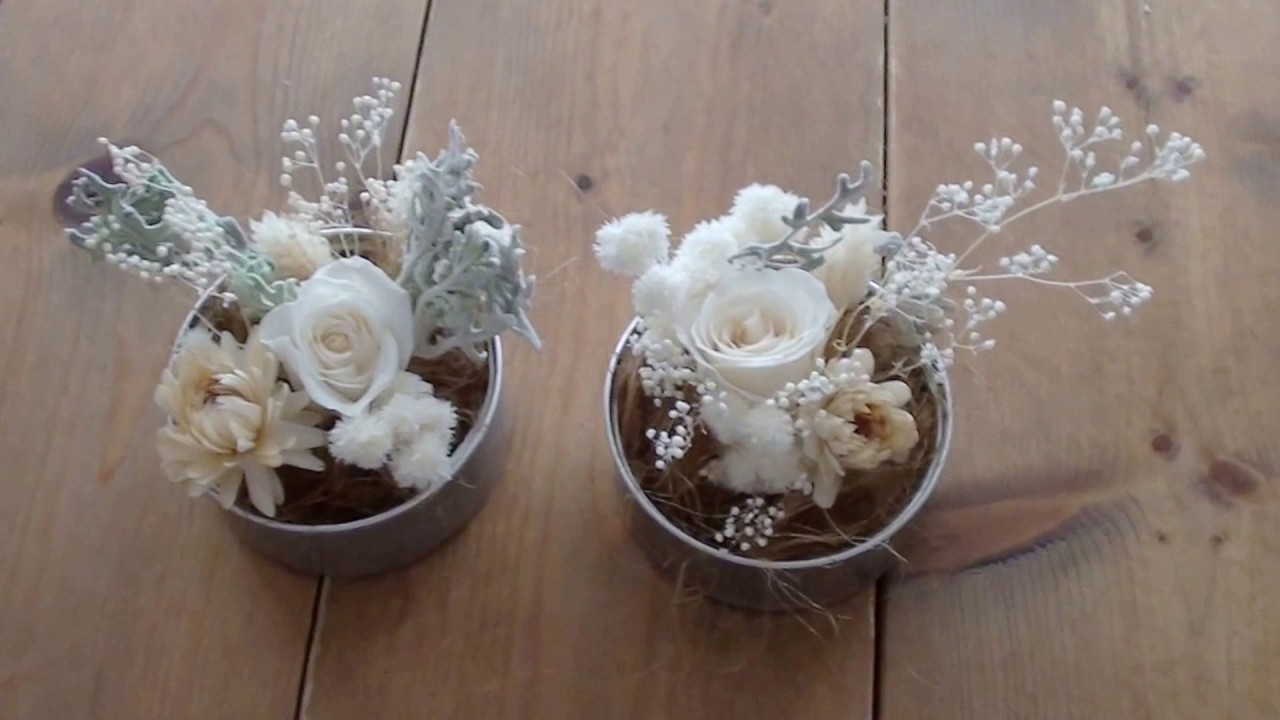 How To Arrange Preserved And Dry Flowers In A Tin Can Youtube