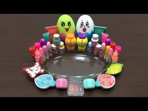Mixing Makeup and Colors into Slime   Satisfying Slime Videos   Mickey Slime