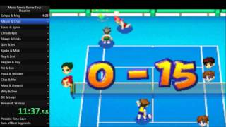 Mario Tennis Power Tour - Doubles Speedrun in 1:08:44 [Current World Record]