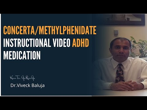 Concerta Methylphenidate Instructional