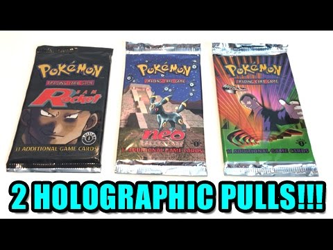2 HOLOGRAPHIC PULLS! - OPENING 3 VINTAGE 1ST EDITION POKEMON BOOSTER PACKS!