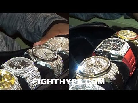 diamond his mayweather floyd watches wrist off art shows
