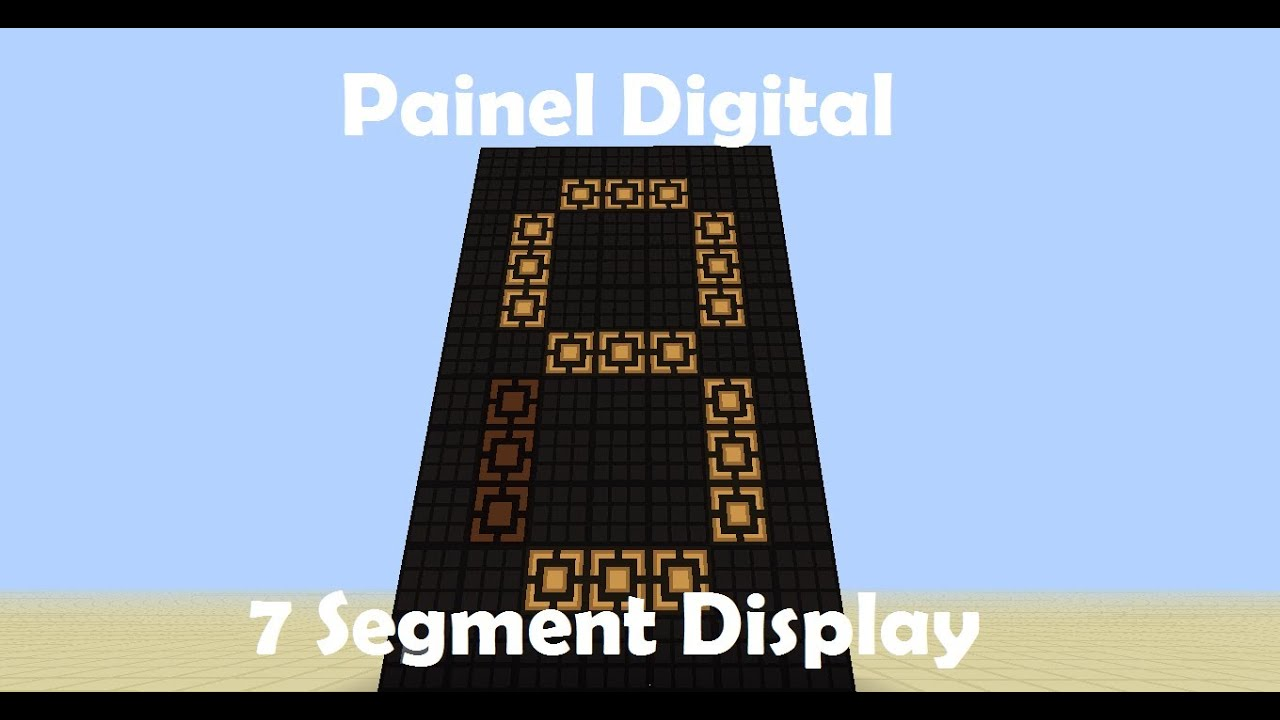 redstone digital clock. minecraft | tutorial de redstone painel digital 7 segment display clock