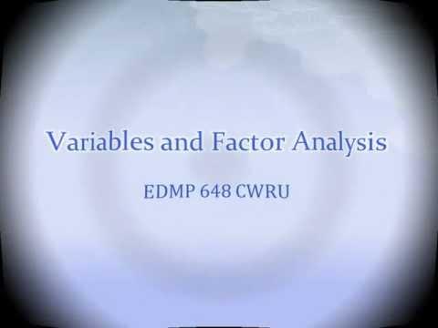 Variables and Factor Analysisиз YouTube · Длительность: 14 мин25 с