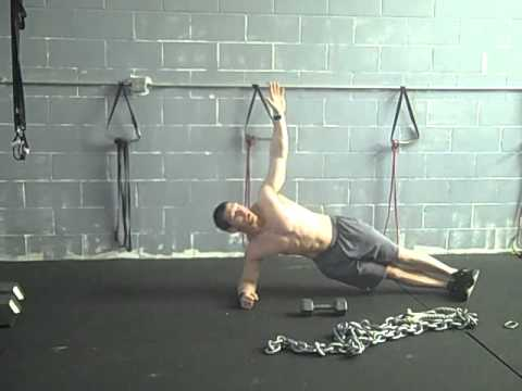 side plank rotations