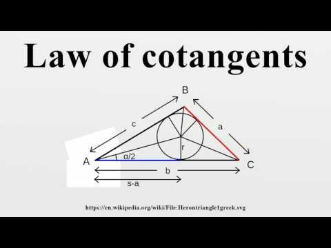 Law of cotangents