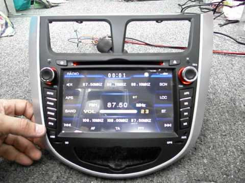 Radio Dvd Con Pantalla Para Hyundai Accent Youtube