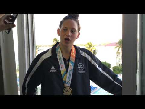 Interview with Bahamas Commonwealth Youth Games gold medallist Latricia Transom 200m freestyle