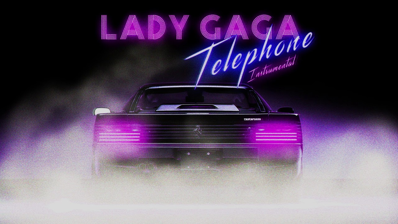 Lady Gaga - Telephone Instrumental Synthwave 80s Cover HD