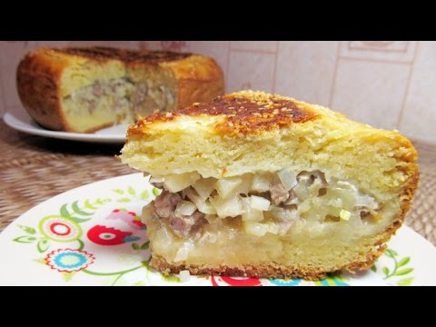 Пирог с мясом и картошкой в мультиварке рецепты