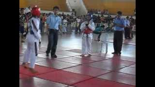 Taekwondo Hannah faith Laroscain 1st  fight